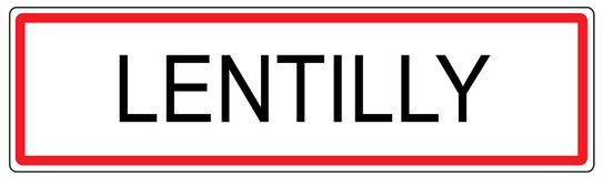 Lentilly city traffic sign illustration in France Stock Photos