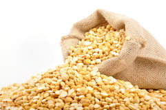 Lentils. Healthy lentils out from sack Royalty Free Stock Photos