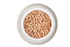 Lentils. A lentils, isolated on white Royalty Free Stock Photo