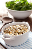 Lentils in a bowl Royalty Free Stock Image