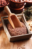 Lentils in box Royalty Free Stock Photo