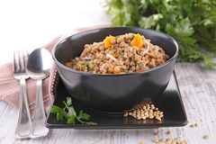 Lentils with carrot Royalty Free Stock Photos