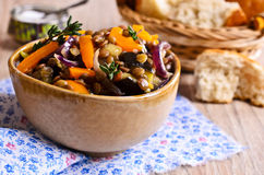 Lentils cooked with vegetables Royalty Free Stock Photography