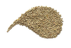 Lentils. Crude lentils on white background Stock Photography