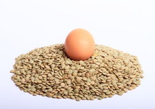 Lentils with egg Royalty Free Stock Photo