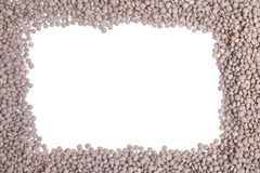 Lentils frame Royalty Free Stock Image