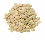 Lentils isolated on white Royalty Free Stock Image