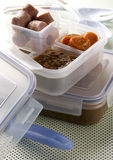 Lentils lunch box Stock Photography