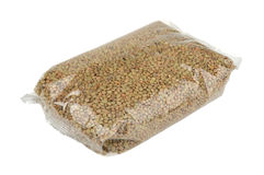 Lentils in a package Royalty Free Stock Photo