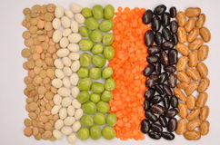 Lentils, peas, beans Royalty Free Stock Images