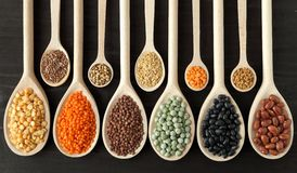 Lentils, peas and beans. Royalty Free Stock Image