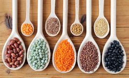 Lentils, peas and beans. Royalty Free Stock Photography