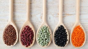 Lentils, peas and beans. Royalty Free Stock Photos