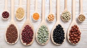 Lentils, peas and beans. Royalty Free Stock Photo