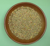 Lentils pulse grain legume vegetables Royalty Free Stock Photo
