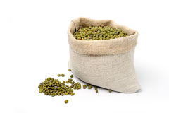 Lentils in a sack Royalty Free Stock Photo