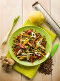 Lentils salad with capsicum onions Royalty Free Stock Images