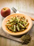 Lentils salad with slice apple royalty free stock image