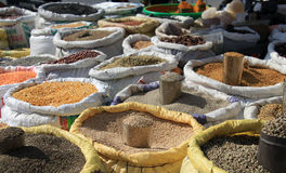 Lentils for sale Stock Image