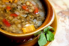 Lentils soup stock images