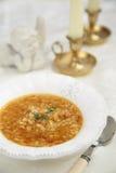 Lentils soup stock photo
