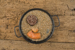 Lentils soup with sausage Stock Image