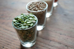 Lentils and split peas Stock Photos