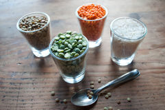 Lentils and split peas Royalty Free Stock Photography