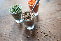 Lentils and split peas Royalty Free Stock Photo