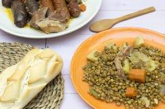 Lentils stew stock photos