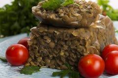 Lentils terrine with herbs Stock Photo