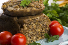 Lentils terrine with herbs Stock Images