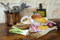 Lentils and vegetables Stock Photos