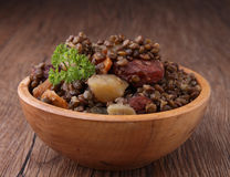 Lentils and vegetables Royalty Free Stock Photography