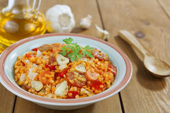 Red lentils with vegetables Royalty Free Stock Images