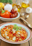 Red lentils with vegetables Royalty Free Stock Photo