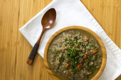 Lentils with vegetables. With a lot flavor, color and vitamins Royalty Free Stock Photography