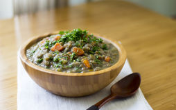 Lentils with vegetables. With a lot flavor, color and vitamins Stock Image