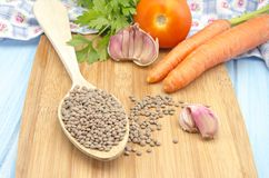 Lentils and vegetables Stock Photography