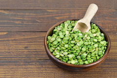 Lentils in wooden bowl Stock Image