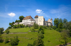 Lenzburgkasteel stock foto