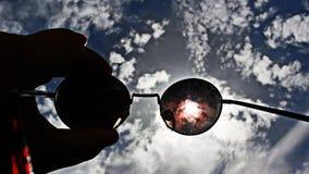 Lenzen met ruimteglas royalty-vrije stock foto