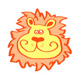 Leo. The funny Lion head illustration Royalty Free Stock Photography