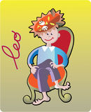 Leo. Collection of 12 children horoscopes and characters Stock Photo