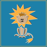 Leo as one of the zodiac signs. Illustration of zodiac sign Leo - lion sitting Stock Photos