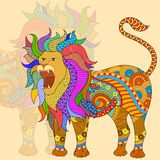 Leo Astrological Zodiac Sign Stock Image