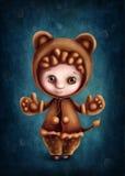 Leo astrologiczna szyldowa chłopiec Zdjęcia Royalty Free