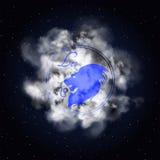Leo Astrology-Konstellation des Tierkreisrauches Stockfoto