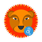 Leo astrology sign isolated on white. Horoscope zodiac symbol Stock Photography