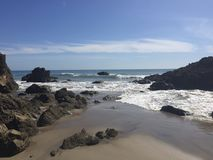 Leo Carillo State Beach - Malibu, CA Fotografie Stock Libere da Diritti
